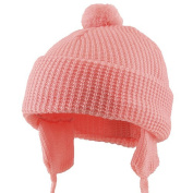Toddler Beanie Hat with Ear Flaps - Pink w21s09f