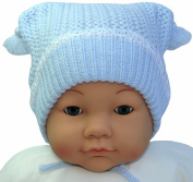 Hand Knit Infants Pom-pom Hat, Size 6-18 M., Colours