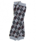 (#86) Grey Argyle baby leg warmers for girl or boy toddler & child by My Little Legs