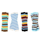 My Little Legs Blue Boy Stripes baby leg warmers 4 pack for babies, toddlers and children