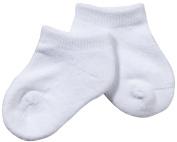 Jefferies Seamless Sport Low Cut Half Cushion 3 Pk - White-Newborn