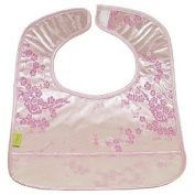 I Frogee Brocade Baby Bibs in Silver/Light Pink Cherry Blossom Print