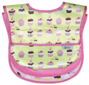 Waterproof Feeder Bib with Flip Over Pocket, 3 Pack, Ice Cream, Frenchie Mini Couture