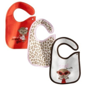 "Carter's ""Cool Like Auntie"" & ""Mommy Sweet Girl"" 3 Teething Bibs Assorted Colours"