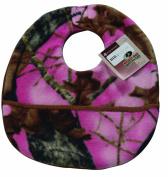 Scene Weaver Mossy Oak Camouflage Baby Bib, Break-Up Pink