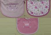 3pk hook and loop Closure Bib Little Beginning Infant Bib Our Little Princess