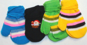 Set of Four Pairs One Size Magic Mittens for Infants Ages 3-12 Months