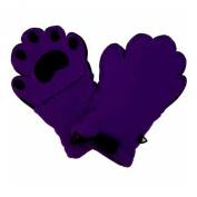 BearHands Little Girls' Youth S Mittens, Dark Purple, 3-7 Years