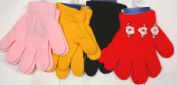 4fmg2.021, Set of Four Pairs One Size Stretch Microfiber Lined Magic Gloves for Children Ages 1-4 Years