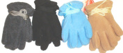 Set of Four Pairs One Size Mongolian Fleece Microfiber Lined Very Warm Gloves for Infants and Toddlers Ages 1-3 Yearsd