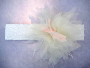 Lace Baby Headbands with Chiffon Flower ; Plus a Free Gift Baby Hair Clip