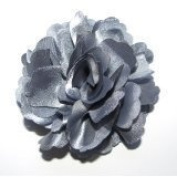 A Girl Company Grey Satin Flower Hair Bow/Clip/Brooch