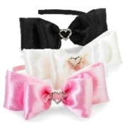 Baby Girls Hair Accessories- Satin Heart Headband- BLACK only- 355009