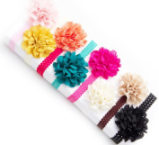Ema Jane - Fancy Boutique Eyelet Laced Flowers Glued to Lace Headbands