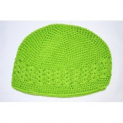 Kufi Hat Crochet Cap Beanie-lime Green