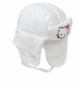 Hello Kitty Baby Girls' Trapper Hat - White