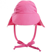Flap Happy Original Flap Hat with Ties UPF 50+ - Candy Pink - Medium