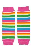 (179) NEWBORN Retro Stripe baby girl leg warmers - up to 6.8kg