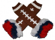 "NFL OFFICIAL FOOTBALL - Tutu Chiffon Ruffle Leg Warmers - AMERICAN FOOTBALL (TOUCH DOWN) - ""BubuBibi"""
