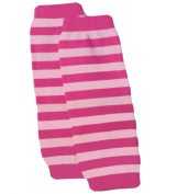 Baby Fashion Leg Warmers by Rishengs, Hot Pink / Light Pink Stripe Leg and Arm Warmers