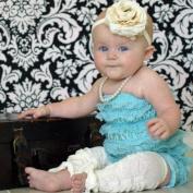 Baby Vanilla Cream Legruffle Leg Warmers By Huggalugs