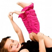 So Pink Legruffle Leg Warmers By Huggalugs