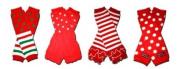 "4 CHRISTMAS LEGGINGS/RUFFLES - Baby Leggings/Leggies/Leg Warmers for Cloth Nappies - Little Girls & Boys & ONE SIZE by ""BubuBibi"""