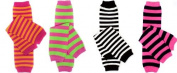 Bright Stripes 4 pack girls baby and toddler leg warmers by My Little Legs