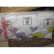 Little Miss 0-12 Months Socks, Yellow/purple/pink, 3 Pack