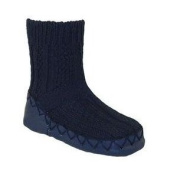 Nowali Moccasins Infant Toddler Baby Booties Navy