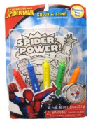 Spiderman 5 Bath Crayons and Character Decal Colouring Set. Colour and Cling.