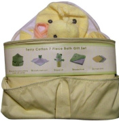 Beansprout 7 Piece Ducks Terry Cotton Bath Gift Set