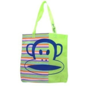 Paul Frank Core Julius Jelly Green Stripes Big Tote Shoulder Bag