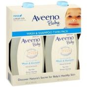 Aveeno Baby Wash and Shampoo - 530ml 2/pack