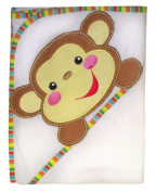 Fisher-Price Rainforest Character Applique Hooded Towel