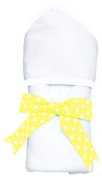 AM PM Kids White with White Trim Hooded Towel
