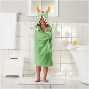 Children's Hooded Bath Beach Towel GREEN MONSTER by Jumping Beans