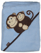 Frenchie Mini Couture Extra Large 101.6cm x76.2cm Absorbent Hooded Towel, Monkeys