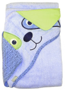 Extra Large 101.6cm x76.2cm Absorbent Hooded Towel, Dog, Frenchie Mini Couture