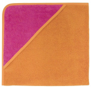 American Terry Co. Baby Hooded Towel - Hot Pink/Orange-One Size