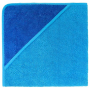 American Terry Co. Baby Hooded Towel - Cobalt/Sea-One Size