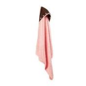 Elegant Baby Pink & Chocolate Hooded Towel
