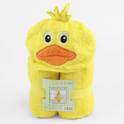 Peanut & Ollie Hooded Yellow Duckie Bath Towel Child Size 100% Cotton Cute Duck