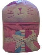 Cutie Pie Terry Hooded Towel and Washcloth Set Girls