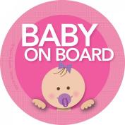 Baby on Board Car Sticker - Modern and Unique - Bright Colours