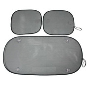 Premium Auto Car Rear & Side Window Shade Set