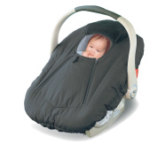Jolly Jumper Deluxe Sneak-A-Peek Infant Carseat / Carrier Cover Deluxe Black
