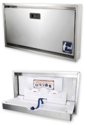 Surface Mount Stainless Clad Changing Station - Stainless Steel