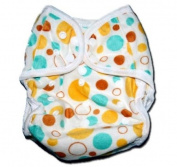 "One Size Fit All- Nappy Covers for Prefolds or Regular Inserts PUL MINKY - CIRCLES by ""BubuBibi"""