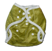 One Size Fit All- Nappy Cover MINKY - GREEN